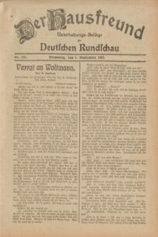 Der Hausfreund : Unterhaltungs-Beilage zur Deutschen Rundschau. 1932, Nr. 199 (1 September)