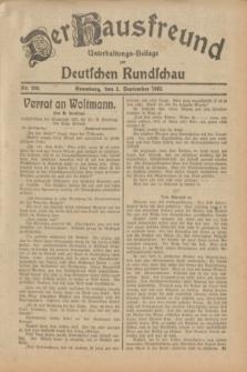 Der Hausfreund : Unterhaltungs-Beilage zur Deutschen Rundschau. 1932, Nr. 200 (2 September)