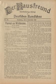 Der Hausfreund : Unterhaltungs-Beilage zur Deutschen Rundschau. 1932, Nr. 201 (3 September)