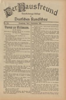 Der Hausfreund : Unterhaltungs-Beilage zur Deutschen Rundschau. 1932, Nr. 202 (4 September)
