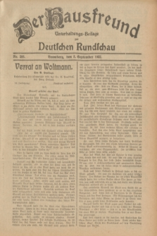 Der Hausfreund : Unterhaltungs-Beilage zur Deutschen Rundschau. 1932, Nr. 205 (8 September)