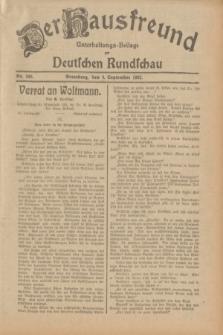 Der Hausfreund : Unterhaltungs-Beilage zur Deutschen Rundschau. 1932, Nr. 206 (9 September)