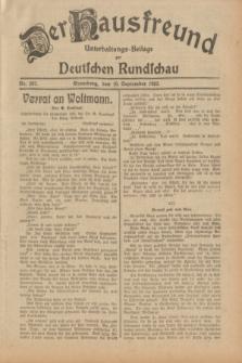 Der Hausfreund : Unterhaltungs-Beilage zur Deutschen Rundschau. 1932, Nr. 207 (10 September)
