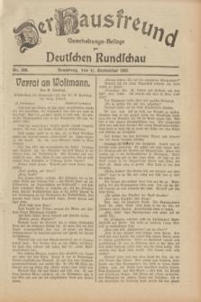 Der Hausfreund : Unterhaltungs-Beilage zur Deutschen Rundschau. 1932, Nr. 208 (11 September)