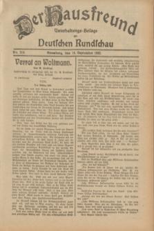Der Hausfreund : Unterhaltungs-Beilage zur Deutschen Rundschau. 1932, Nr. 210 (14 September)