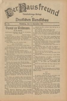 Der Hausfreund : Unterhaltungs-Beilage zur Deutschen Rundschau. 1932, Nr. 211 (15 September)