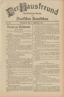 Der Hausfreund : Unterhaltungs-Beilage zur Deutschen Rundschau. 1932, Nr. 213 (17 September)