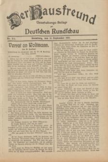 Der Hausfreund : Unterhaltungs-Beilage zur Deutschen Rundschau. 1932, Nr. 214 (18 September)