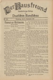 Der Hausfreund : Unterhaltungs-Beilage zur Deutschen Rundschau. 1932, Nr. 216 (21 September)