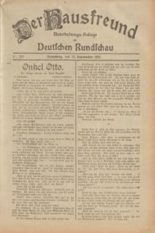 Der Hausfreund : Unterhaltungs-Beilage zur Deutschen Rundschau. 1932, Nr. 220 (25 September)