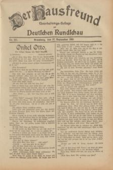Der Hausfreund : Unterhaltungs-Beilage zur Deutschen Rundschau. 1932, Nr. 221 (27 September)
