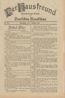 Der Hausfreund : Unterhaltungs-Beilage zur Deutschen Rundschau. 1932, Nr. 225 (1 Oktober)