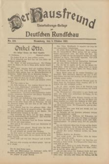 Der Hausfreund : Unterhaltungs-Beilage zur Deutschen Rundschau. 1932, Nr. 229 (6 Oktober)