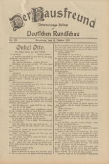 Der Hausfreund : Unterhaltungs-Beilage zur Deutschen Rundschau. 1932, Nr. 235 (13 Oktober)