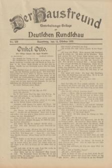 Der Hausfreund : Unterhaltungs-Beilage zur Deutschen Rundschau. 1932, Nr. 236 (14 Oktober)