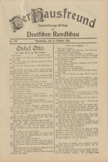 Der Hausfreund : Unterhaltungs-Beilage zur Deutschen Rundschau. 1932, Nr. 237 (15 Oktober)
