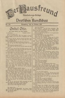 Der Hausfreund : Unterhaltungs-Beilage zur Deutschen Rundschau. 1932, Nr. 238 (16 Oktober)
