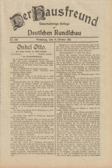 Der Hausfreund : Unterhaltungs-Beilage zur Deutschen Rundschau. 1932, Nr. 239 (18 Oktober)