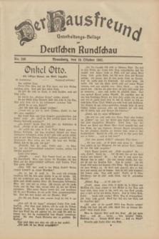 Der Hausfreund : Unterhaltungs-Beilage zur Deutschen Rundschau. 1932, Nr. 240 (19 Oktober)