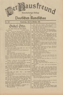 Der Hausfreund : Unterhaltungs-Beilage zur Deutschen Rundschau. 1932, Nr. 242 (21 Oktober)