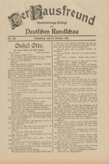 Der Hausfreund : Unterhaltungs-Beilage zur Deutschen Rundschau. 1932, Nr. 243 (22 Oktober)