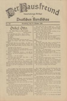 Der Hausfreund : Unterhaltungs-Beilage zur Deutschen Rundschau. 1932, Nr. 245 (25 Oktober)