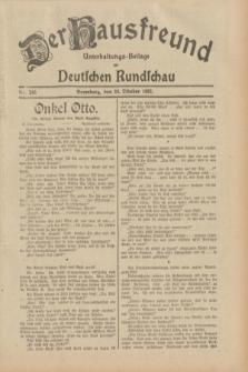 Der Hausfreund : Unterhaltungs-Beilage zur Deutschen Rundschau. 1932, Nr. 246 (26 Oktober)
