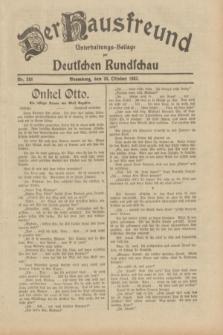 Der Hausfreund : Unterhaltungs-Beilage zur Deutschen Rundschau. 1932, Nr. 248 (28 Oktober)