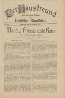 Der Hausfreund : Unterhaltungs-Beilage zur Deutschen Rundschau. 1932, Nr. 249 (29 Oktober)