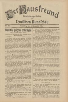 Der Hausfreund : Unterhaltungs-Beilage zur Deutschen Rundschau. 1932, Nr. 251 (1 November)