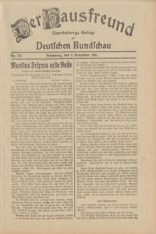 Der Hausfreund : Unterhaltungs-Beilage zur Deutschen Rundschau. 1932, Nr. 255 (6 November)
