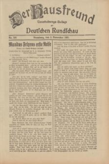 Der Hausfreund : Unterhaltungs-Beilage zur Deutschen Rundschau. 1932, Nr. 256 (8 November)