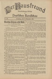 Der Hausfreund : Unterhaltungs-Beilage zur Deutschen Rundschau. 1932, Nr. 260 (12 November)