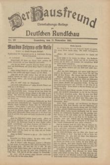Der Hausfreund : Unterhaltungs-Beilage zur Deutschen Rundschau. 1932, Nr. 261 (13 November)