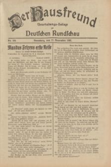 Der Hausfreund : Unterhaltungs-Beilage zur Deutschen Rundschau. 1932, Nr. 264 (17 November)