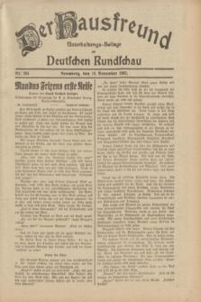 Der Hausfreund : Unterhaltungs-Beilage zur Deutschen Rundschau. 1932, Nr. 265 (18 November)