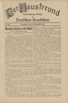 Der Hausfreund : Unterhaltungs-Beilage zur Deutschen Rundschau. 1932, Nr. 266 (19 November)