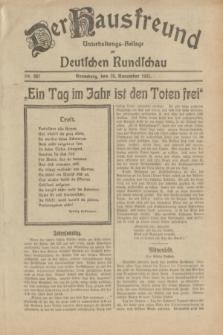 Der Hausfreund : Unterhaltungs-Beilage zur Deutschen Rundschau. 1932, Nr. 267 (20 November)