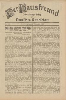 Der Hausfreund : Unterhaltungs-Beilage zur Deutschen Rundschau. 1932, Nr. 268 (22 November)