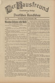 Der Hausfreund : Unterhaltungs-Beilage zur Deutschen Rundschau. 1932, Nr. 269 (23 November)