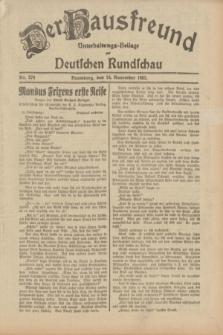 Der Hausfreund : Unterhaltungs-Beilage zur Deutschen Rundschau. 1932, Nr. 270 (24 November)