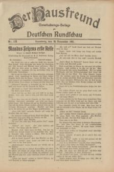 Der Hausfreund : Unterhaltungs-Beilage zur Deutschen Rundschau. 1932, Nr. 272 (26 November)