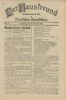 Der Hausfreund : Unterhaltungs-Beilage zur Deutschen Rundschau. 1932, Nr. 274 (29 November)