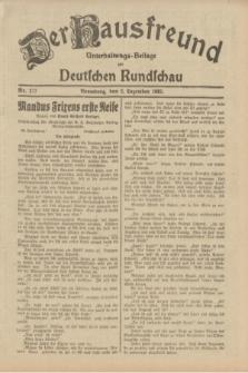 Der Hausfreund : Unterhaltungs-Beilage zur Deutschen Rundschau. 1932, Nr. 277 (2 Dezember)