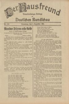 Der Hausfreund : Unterhaltungs-Beilage zur Deutschen Rundschau. 1932, Nr. 278 (3 Dezember)