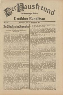 Der Hausfreund : Unterhaltungs-Beilage zur Deutschen Rundschau. 1932, Nr. 283 (10 Dezember)