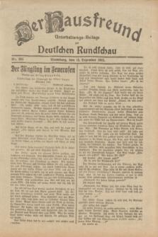 Der Hausfreund : Unterhaltungs-Beilage zur Deutschen Rundschau. 1932, Nr. 285 (12 Dezember)