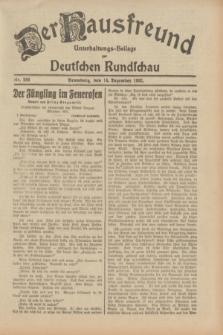 Der Hausfreund : Unterhaltungs-Beilage zur Deutschen Rundschau. 1932, Nr. 286 (14 Dezember)