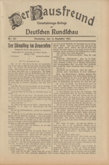 Der Hausfreund : Unterhaltungs-Beilage zur Deutschen Rundschau. 1932, Nr. 287 (15 Dezember)