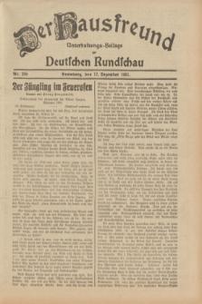 Der Hausfreund : Unterhaltungs-Beilage zur Deutschen Rundschau. 1932, Nr. 289 (17 Dezember)